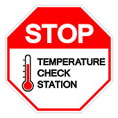 istock Stop Temperature Check Station Symbol Sign, Vector Illustration, Isolated On White Background Label. EPS 10 1271550768