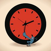 Vector illustration – Stop time.
