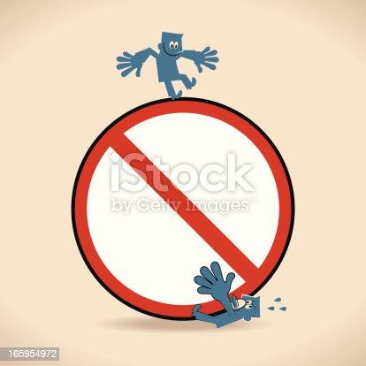 Vector illustration – Stop!