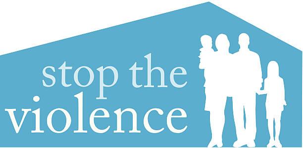 stop violence heading c - domestic violence stock illustrations