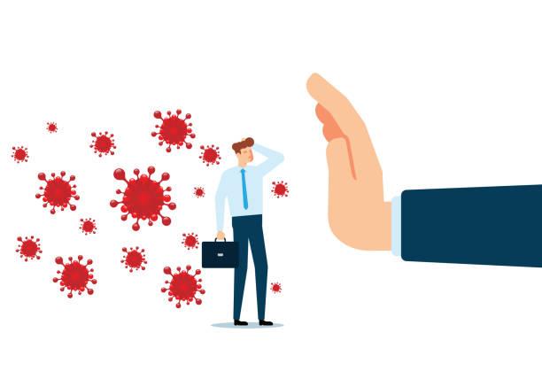 Stop Virus vector art illustration