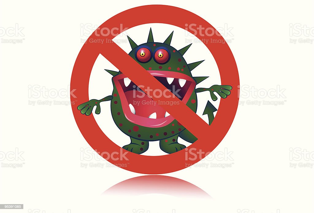 Stop Virus royalty-free stock vector art