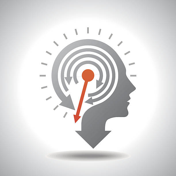 stop watch in human head - spring forward stock illustrations, clip art, cartoons, & icons