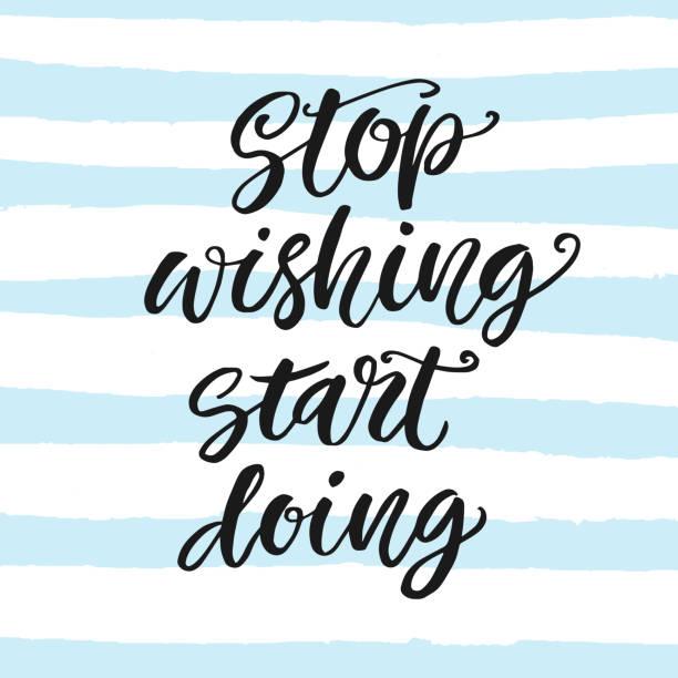 i̇steyen durdurmak, yapmaya başla. motivasyon posteri - start stock illustrations