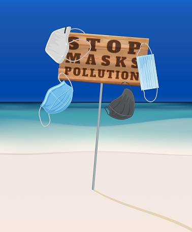 Stop wrong face masks disposal