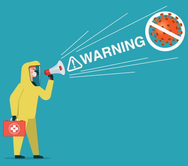 Stoppt den Virus – Vektorgrafik