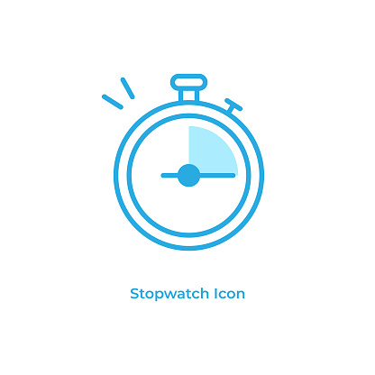 Stopwatch and Timer Line Icon Vector Design.