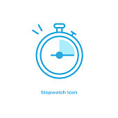 istock Stopwatch and Timer Line Icon Vector Design. 1216788172