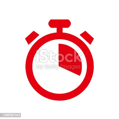 Stopwatch around icon, symbol, logo illustration - stock vector