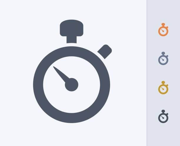 illustrations, cliparts, dessins animés et icônes de chronomètre - icônes de carbone - chronomètre