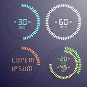 Stopwatch digital countdown timer
