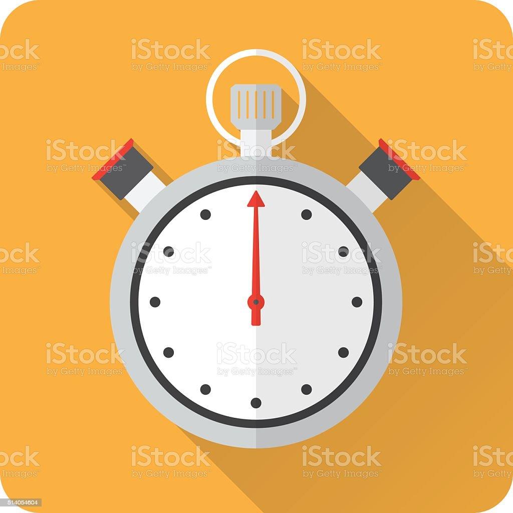 Stopwatch flat design vector art illustration
