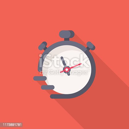 istock Stopwatch Flat Icon. Pixel Perfect. For Mobile and Web. 1173891781