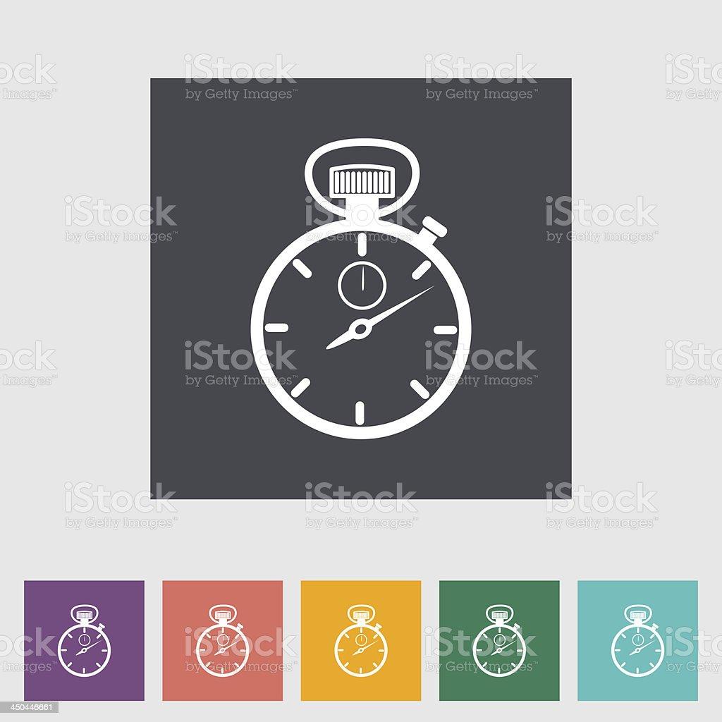 Stopwatch flat icon. royalty-free stock vector art