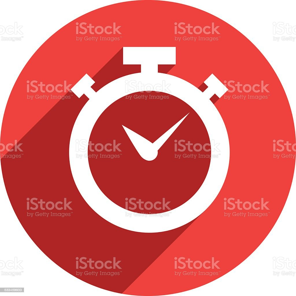 Stopwatch Flat Icon - VECTOR vector art illustration