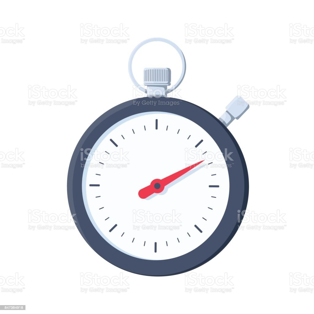 Stopwatch icon. Flat illustration of stopwatch vector icon for web design. Sport timer on competitions. vector art illustration