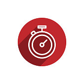 istock Stopwatch icon in flat design. Chronometr, timestamp, clock icon. Business management, performance measure, deadline concept for perfect website and app design. 1270962186