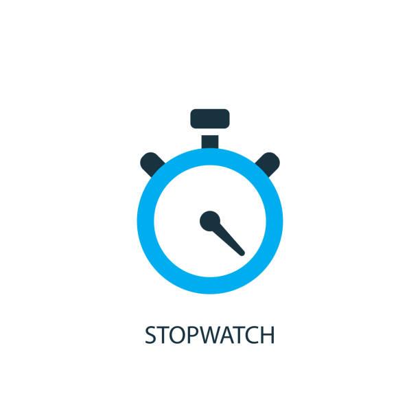 illustrations, cliparts, dessins animés et icônes de icône du chronographe. illustration d'element logo - chronomètre