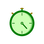 Stopwatch icon. Time measurement, time interval and countdown, quick start concept. Vector sketch illustration for print, web, mobile and infographics on white background.