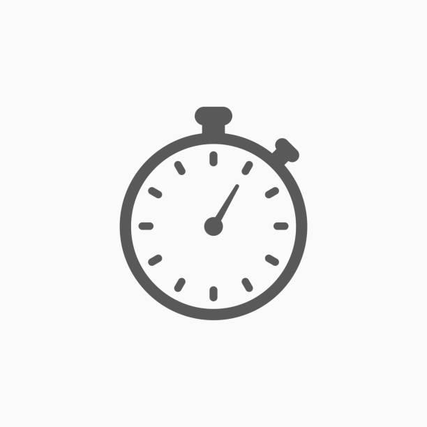 illustrations, cliparts, dessins animés et icônes de chronomètre icône - chronomètre