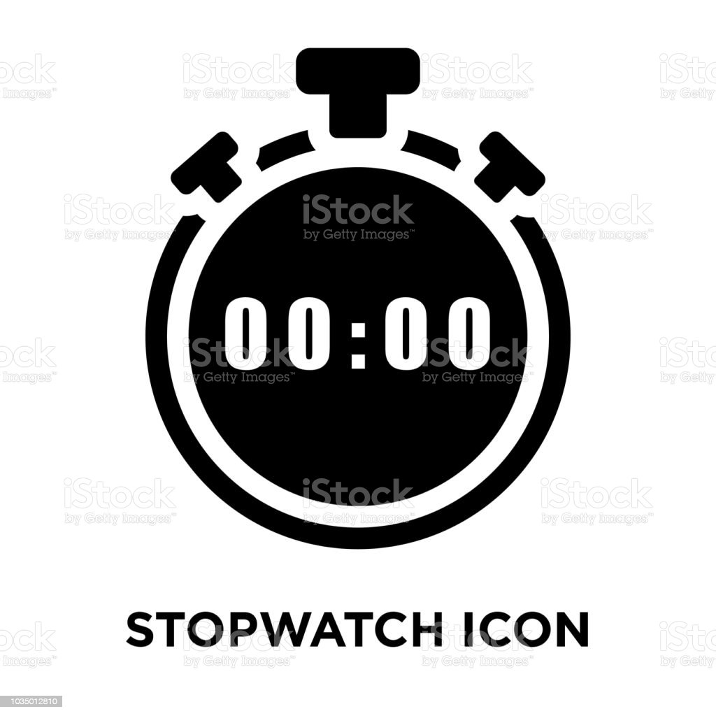 Stopwatch Icon Vector Isolated On White Background Logo