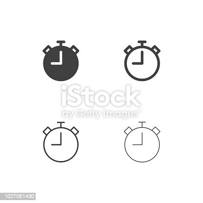 Stopwatch Icons Multi Series Vector EPS File.