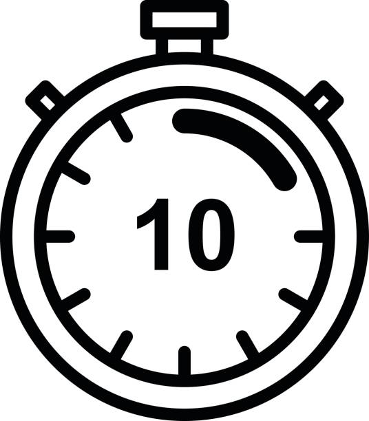 10 Minute Stopwatch Illustrations, Royalty-Free Vector Graphics ...