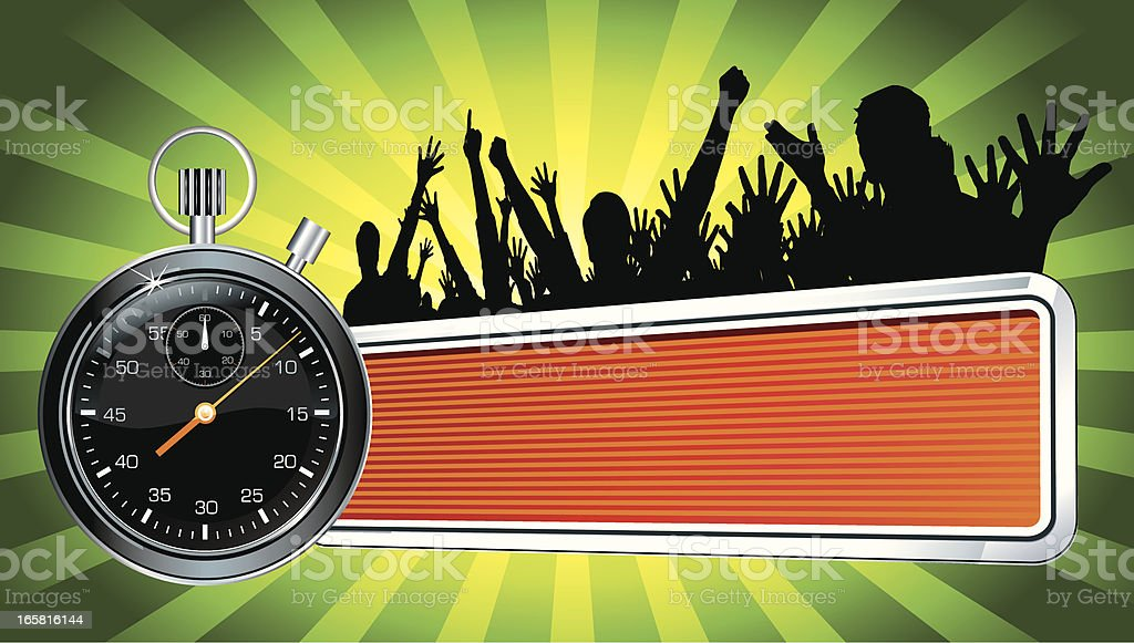 Stopwatch Racing Emblem royalty-free stock vector art