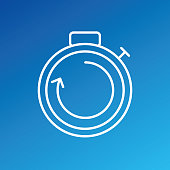A thin line icon from a set of time themed icons.