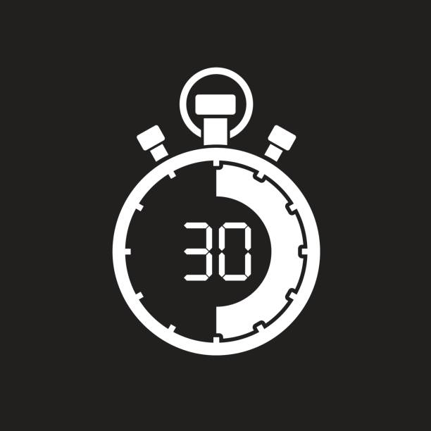 royalty free 30 second countdown timer silhouette clip art vector