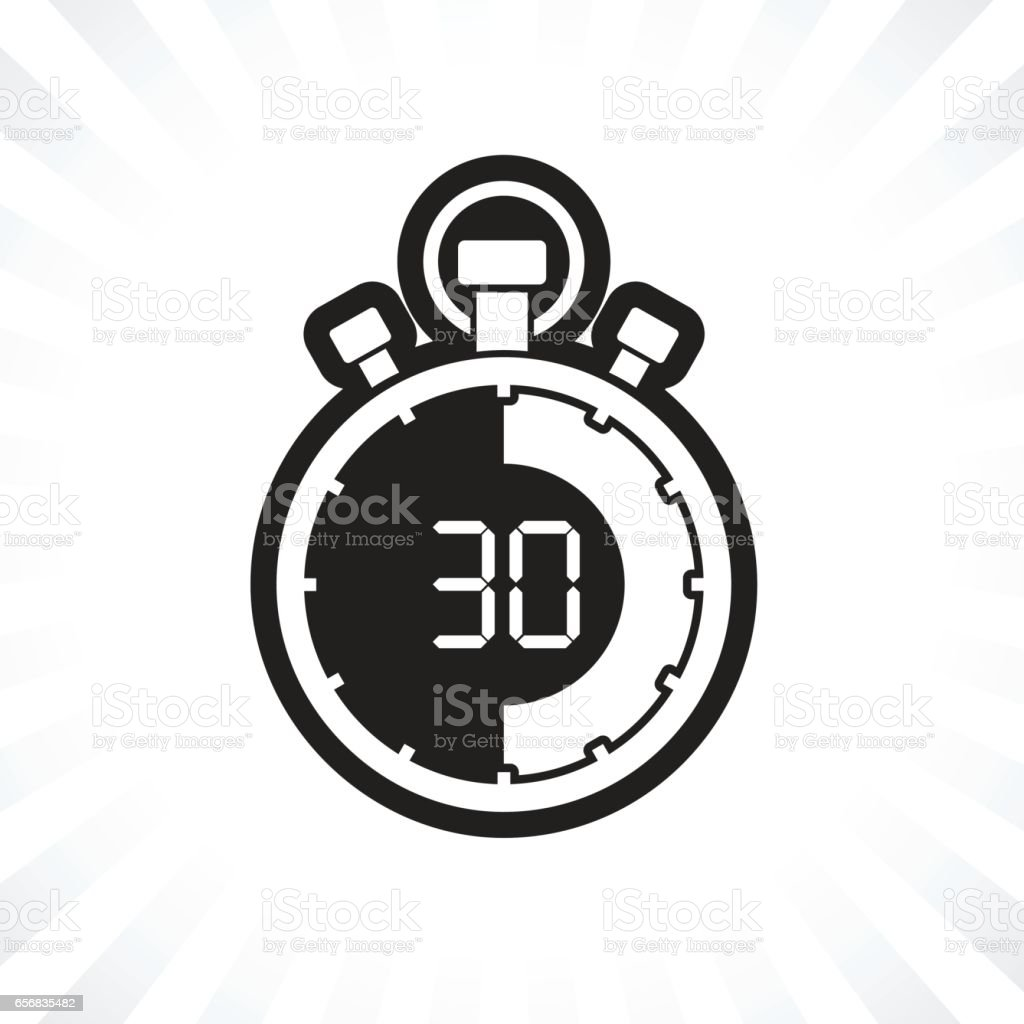 stopwatch thirty minute stock vector art more images of accuracy
