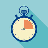Vector illustration of a graphic stopwatch timing icon.