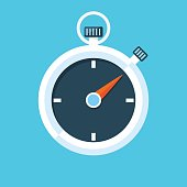 Stopwatch vector illustration.