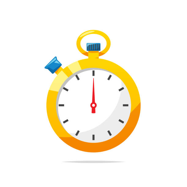 illustrations, cliparts, dessins animés et icônes de vecteur de chronomètre isolé - horlogerie
