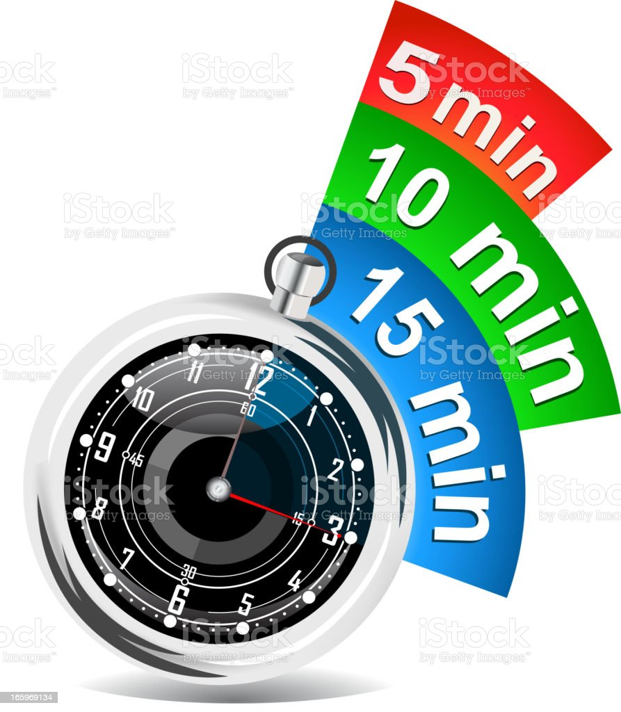 stopwatch with bookmark royalty-free stock vector art
