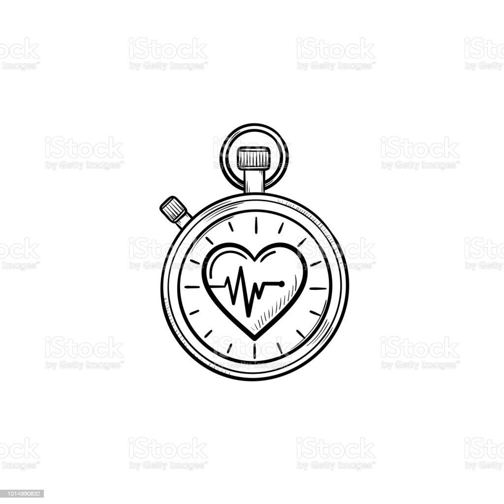 https www istockphoto com tr vekt c3 b6r kalp sembol el c3 a7izilmi c5 9f anahat doodle simgesi ile kronometre gm1014990832 273193043