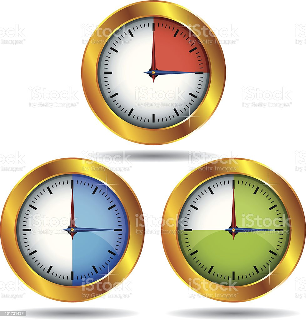 Stopwatches royalty-free stock vector art