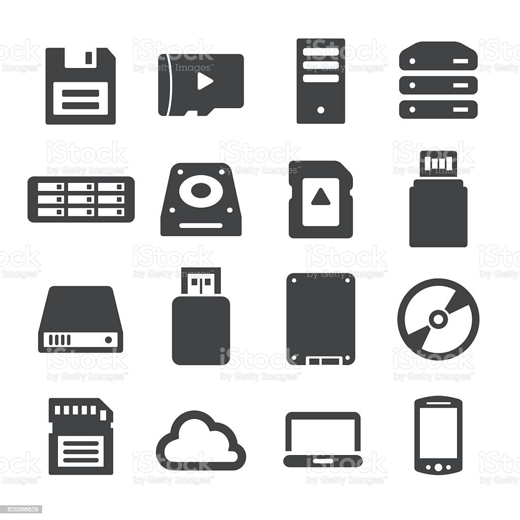 Storage and Memory Icons - Acme Series storage and memory icons acme series - arte vetorial de stock e mais imagens de cd royalty-free