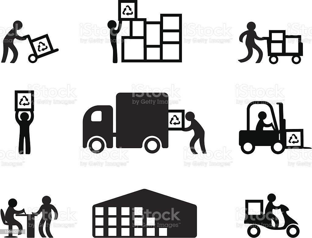 De stockage, de vente - Illustration vectorielle