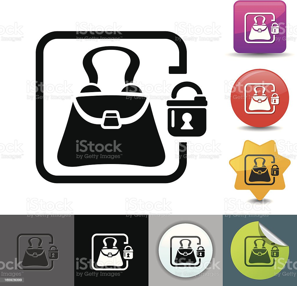 Storage bag locker icon | solicosi series royalty-free stock vector art