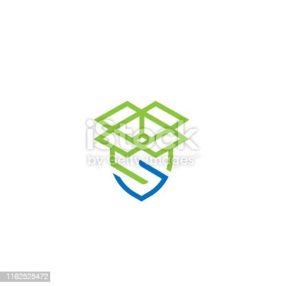 istock Storage box security icon or logo in modern line style for web site design and mobile apps. Vector illustration on a white background. 1162525472