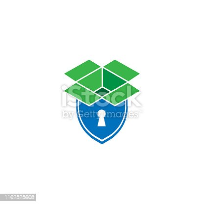 istock Storage box security icon or logo in modern line style for web site design and mobile apps. Vector illustration on a white background. 1162525608