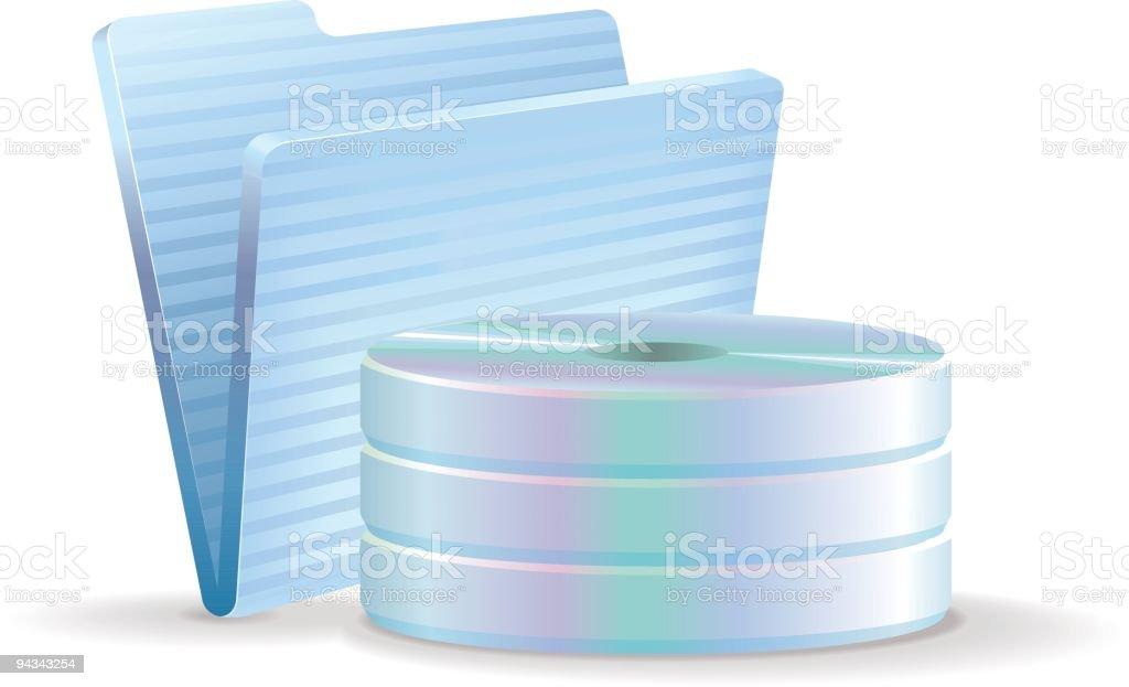 CD Storage Icon - Folder royalty-free stock vector art