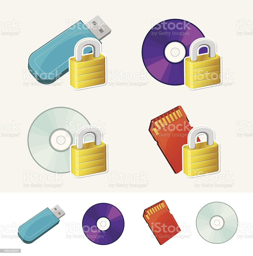 Storage Media Protection royalty-free storage media protection stock vector art & more images of assistance