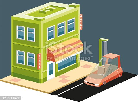 Easy editable  isometric vector illustration...