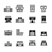 Store and shop icons