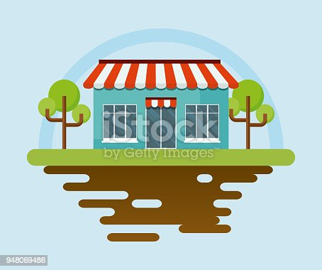 istock store and trees icon 948069486