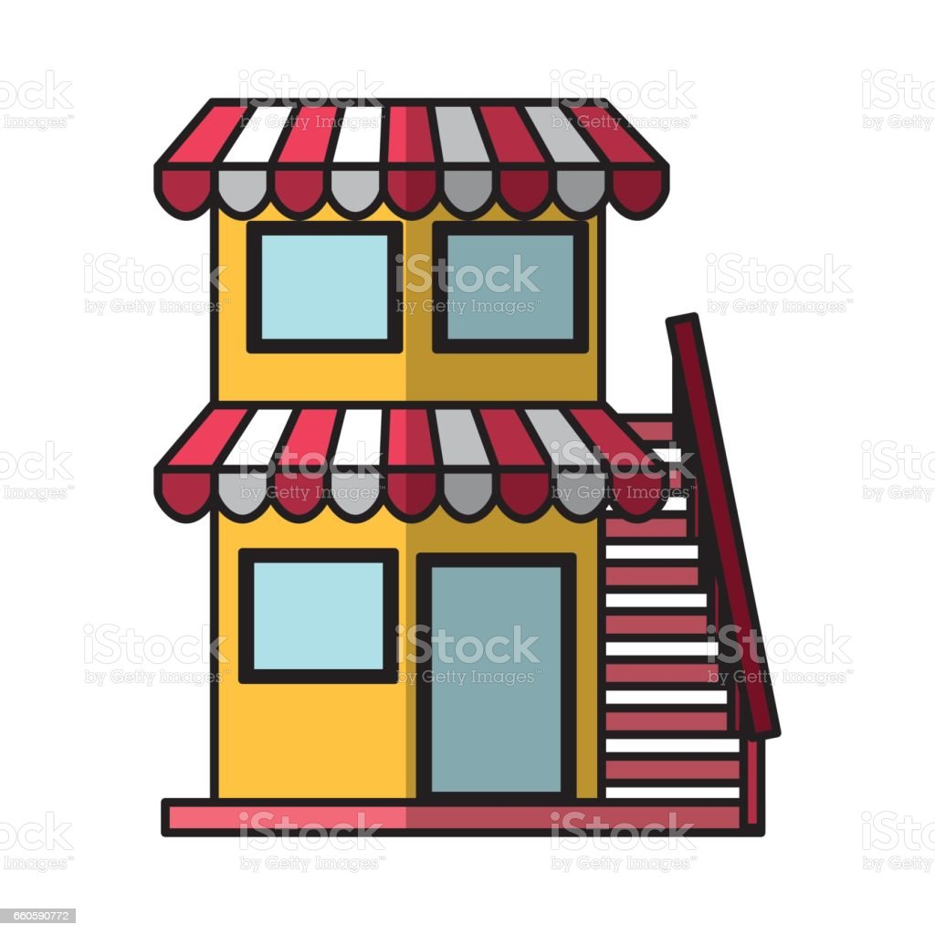 store building front isolated icon royalty-free store building front isolated icon stock vector art & more images of architecture
