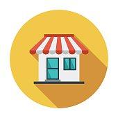 Store. Single flat color icon. Vector illustration.