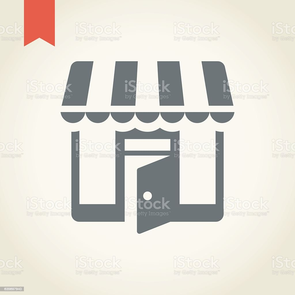 Store icon royalty-free store icon stock vector art & more images of business